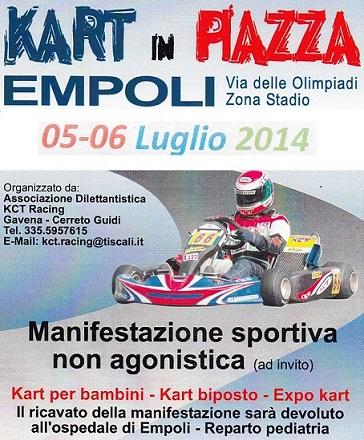 """Sabato 5 e domenica 6 Luglio ad Empoli c'è il """"Kart in Piazza"""""""
