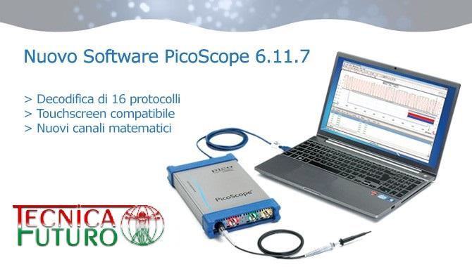 Tecnica Futuro rivenditore Pico Oscilloscopi: disponibile online il nuovissimo software