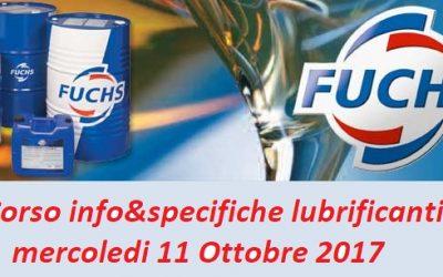 EVENTI   11 Ottobre 2017 – Tecnica Futuro&Fuchs insieme per un corso sulla lubrificazione!