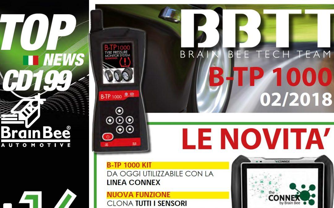 NEWS | Brain Bee ha rilasciato l'aggiornamento +199 per B-TP1000, tester Sensori TPMS