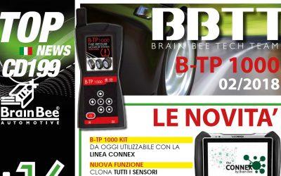 NEWS   Brain Bee ha rilasciato l'aggiornamento +199 per B-TP1000, tester Sensori TPMS