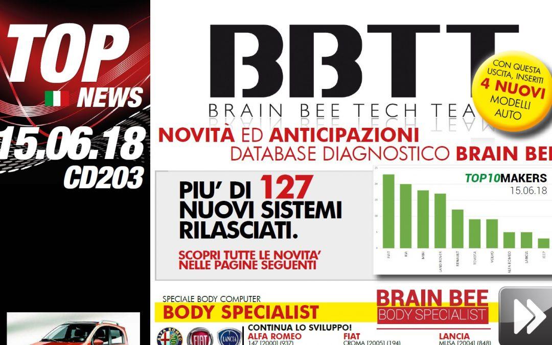 TECH NEWS   Brain Bee rilascia l'aggiornamento 203 (Luglio 2018) per linea Touch e Connex