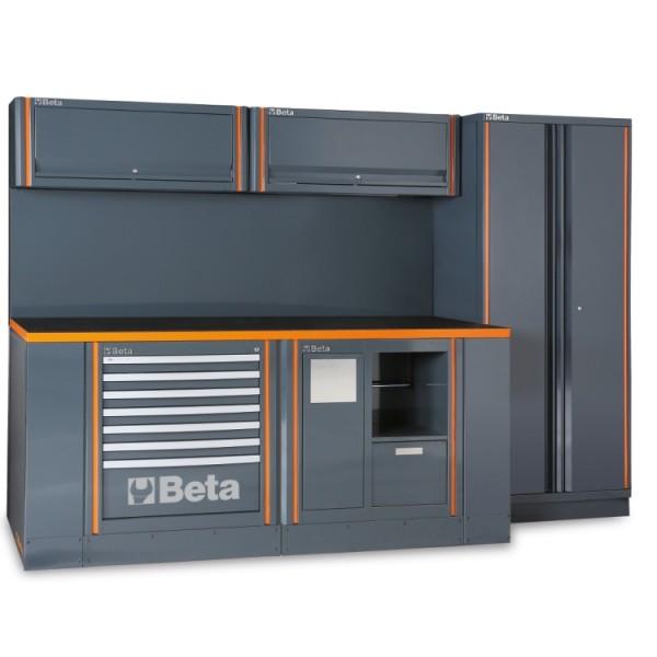 C55 Arredo Beta Utensili a due elementi con anta doppia